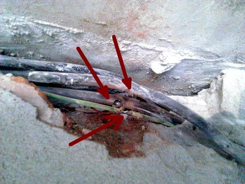 Пробитый кабель